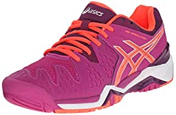 ASICS Women\'s GEL-Resolution 6 Tennis Shoe, Berry/Flash Coral/Plum, 7 M US