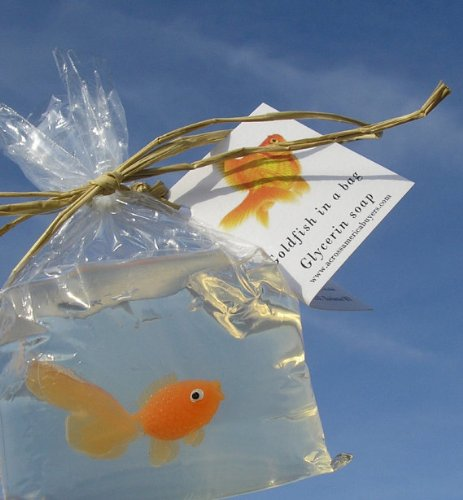 Fish In A Bag Soap, Carnival Prize Fish Soaps Games & Prizes Party Favors, Goldfish Soap (Orange Fish)