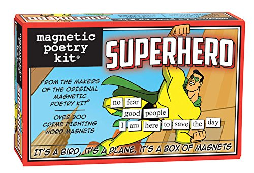 Magnetic Poetry - Superhero Kit - Words for Refrigerator - Write Poems and Letters on the Fridge