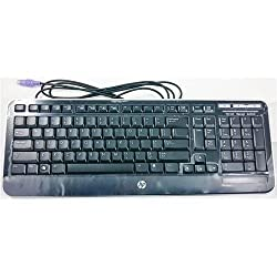 HP 599859-371 Black slim Amalthea Wired PS/2 Keyboard with Volume Control (HP599859-371 )