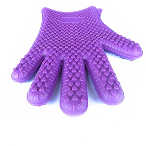 1Pcs Kitchen Tool Heat Resistant Glove Oven Pot Holder Bbq Baking Cooking Mitts(Ed) front-503846