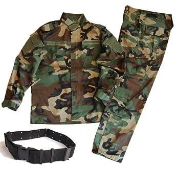 迷彩服 戦闘服 BDU パンツ&ジャケット 上下セット デューティーベルト タクティカル ピストルベルト がセット SSサイズからLサイズまで!幅広いサイズに対応!