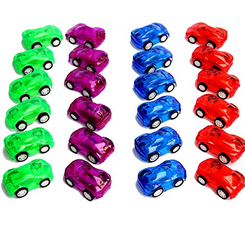 "Dazzling Toys 2"" Pull Back & Let Go Racer Cars - Pack of 12 Cars - Assorted Car Colors"