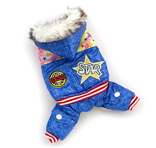 Esingyo Pet Cat Dog Soft Coat Jumpsuit Star Hoodie Dog Clothes Sweaters S M L Xl Xxl