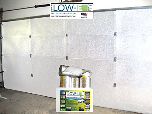 ESP Low-E® SSR One Car Garage Door(9'x7') Insulation Kit (White Interior Finish):Includes ESP Low-E® Reflective Foam Core Insulation (70 sq ft), Razor Knife, Squeegee, Double Adhesive Tape. 25 Years Products and Service From the Creators of Low-E (Insulation For A Shed compare prices)