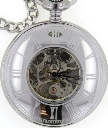 Mens Stainless Pocket Watch by Bariloche Pocket Watches 56976S-W2