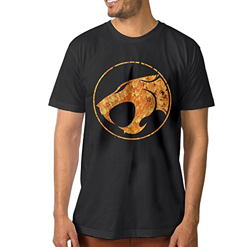Thunder Cats Logo Men's Awesome T Shirt M Black (Thunder Micro Jacket compare prices)