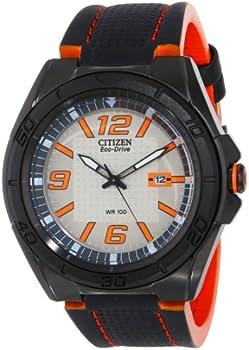 Citizen Eco-Drive Men's AW1385-03H BRT Orange Accents Watch
