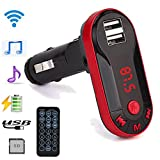 Gotd Bluetooth Wireless FM Transmitter MP3 Player Handsfree Car Kit USB TF SD Remote