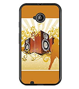 PrintDhaba Music D-1388 Back Case Cover for MOTOROLA MOTO E2 (Multi-Coloured)