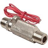 Gems Sensors FS-380 Series Stainless Steel 316 High Pressure Flow Switch, Inline, Piston Type, NPT Male