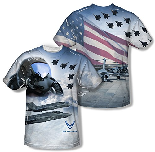 Air Force - Pilot (Front/Back Print) T-Shirt Size M (Air Force Shirts For Men compare prices)