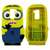 Heartly Cute Cartoon Minion Soft Rubber Silicone Flip Bumper Best Back Case Cover For LG G2 Mini D618 Dual Sim...