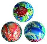 Sea World Soft Boucing Ball - Soft Ball / Turtle / Dolphin / Octopus - Girls / Girl / Boy / Boys / Child / Children / Kid Best / Popular/ Top Selling Stocking Filler Ideas Toys / Games