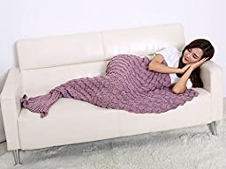 Shine Peak 2016 The New Fish-scale Pattern Mermaid Blankets For Adult (Pink)