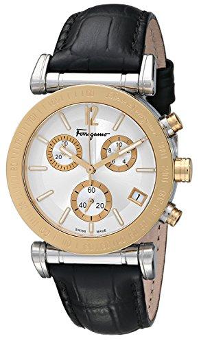Salvatore Ferragamo Men'S Fp1830014 Salvatore Analog Display Swiss Quartz Black Watch
