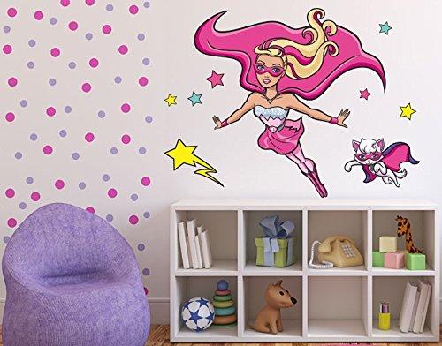 Klebefieber DS 1028-B Wandtattoo Barbie Princess Power & cat B x H: 60cm x 71cm (erhältlich in 9 Größen) online bestellen