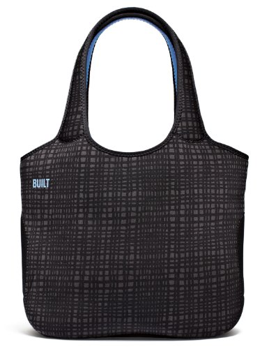 BUILT 13-Inch Apple MacBook or MacBook Pro Neoprene Tote Bag, Graphite Grid
