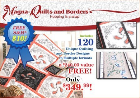 Magna-Quilts & Borders for Bernina Artista 730, 200, 640, 630, Aurora Models (Bernina Model 730 compare prices)