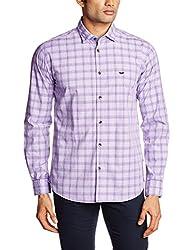 Park Avenue Men's Casual Shirt (8907117071034_PCSA00732-V4_46_Medium Violet)