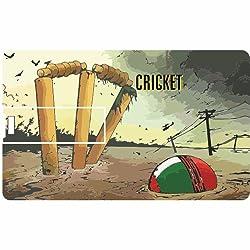 Printland Cricket Mania PC80693 Credit Card Shape 8GB Pen Drive