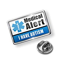 Pin Medical Alert Blue I have Autism - Lapel Badge - NEONBLOND by NEONBLOND