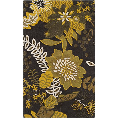 Safavieh Cedar Brook Collection CDR143B Handmade Brown and Citron Cotton Area Rug, 2 feet 3 inches by 3 feet 9 inches (2'3