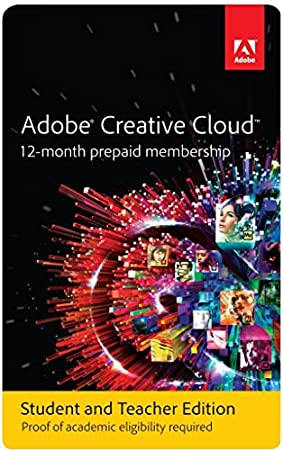 Adobe Creative Cloud Student and Teacher Edition Prepaid Membership 12 Month (Download)