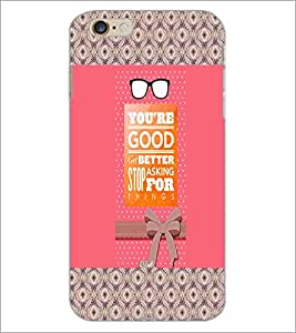 PrintDhaba Quote D-5773 Back Case Cover for APPLE IPHONE 6 PLUS (Multi-Coloured)