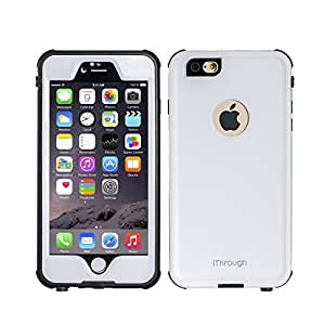 iPhone 6S Plus Waterproof Case, iThroughTM iPhone 6S Plus Waterproof Case, Dust Proof, Snow Proof, Shock Proof Case, Heavy Duty Protective Carrying Cover for iPhone 6S Plus, iPhone 6+ 5.5 Inch (White)