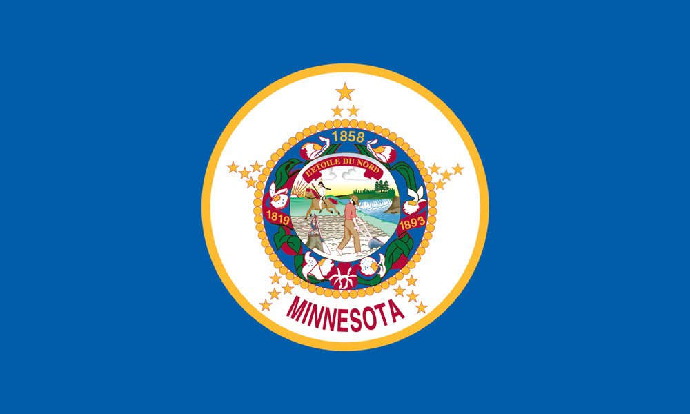 Minnesota State Flag Coloring Page Minnesota State Flag Coloring