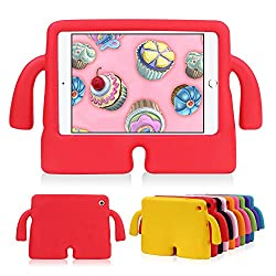 Lioeo iPad Mini Case for Kids Freestanding with Handle Lightweight EVA Foam Case for Apple iPad Mini 4 3 2 1 7.9 inch (Red)