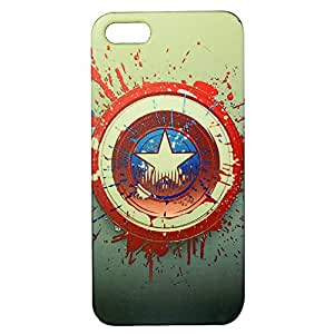 Captian America Print Plastic Back Case for Apple iPhone 5/5S