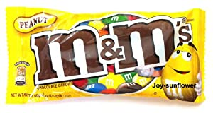M & M's Chocolate Candies Melts in Your Mouth Not in Your Hand - Peanut 40 G. Product of Thailand