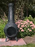 The-Blue-Rooster-Grape-Chiminea-with-Gas-in-Antique-Green