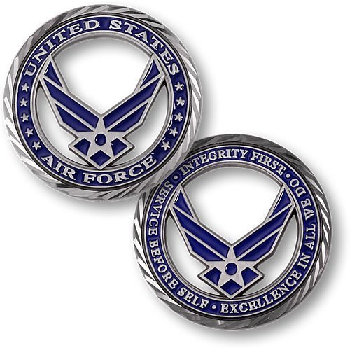 Core Values - U.S. Air Force Challenge Coin - 1