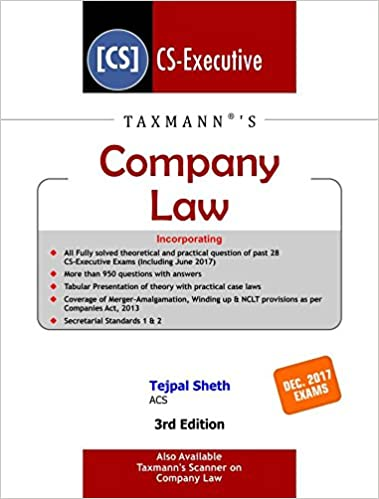 Company Law 3rd Ed. 2017