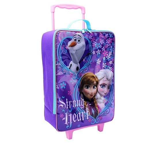 Disney Frozen Strong Heart Rolling Luggage – 16″
