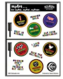 Heidi Barack - Vegetarian- Multi Pack of 13 Mini Stickers / Decals