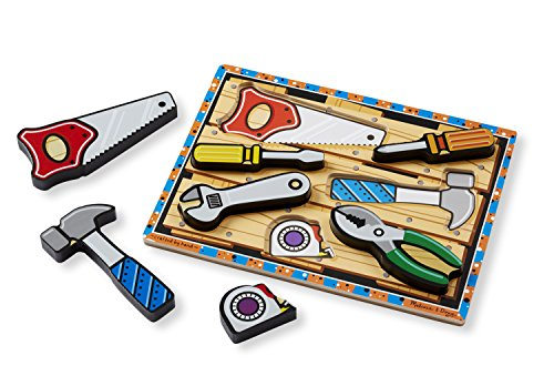 Melissa & Doug Tools Wooden Chunky Puzzle