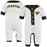 MLB Majestic Pittsburgh Pirates Infant White Pinstripe Coveralls (24 Months) at Amazon.com