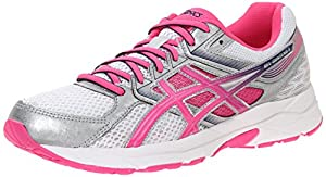 ASICS Women's Gel-contend 3 Running Shoe, White/Knock Out Pink/Indigo Blue, 12 M US