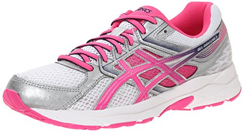 ASICS Women's Gel-contend 3 Running Shoe, White/Knock Out Pink/Indigo Blue, 8 M US