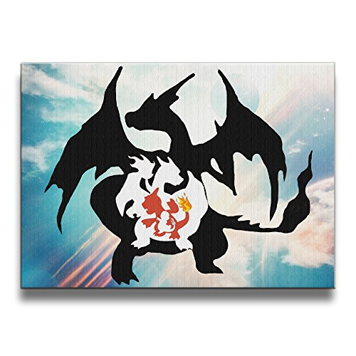GUC Charmander Charmeleon Frameless Art Photos Frames Wooden Prints (Pokemon Omega Ruby Poster compare prices)