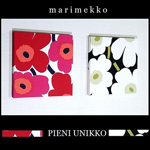 ファブリックパネル アリス marimekko PIENIUNIKKO ピエニウニッコ 30×30×2.5cm 2枚セット ホワイト&レッド マリメッコ 北欧 【同梱可】