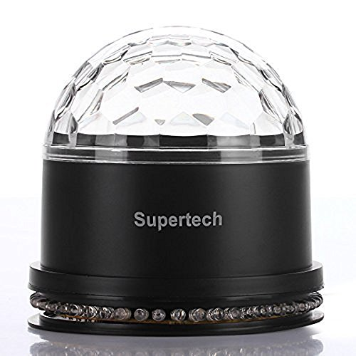 Supertech 12 Color Changes RGB Sound Actived 10W 2 IN 1 Mini Rotating Magic Ball Stage Lights For KTV Xmas Party Wedding Show Club Pub Disco DJ (Stage Light Mixer compare prices)