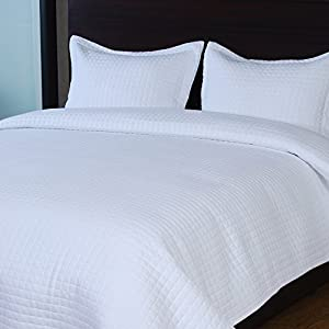 Raintree 3 Piece Bedspread Coverlet Set, White, King
