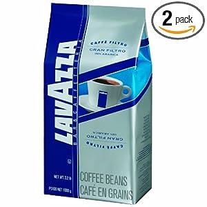 Amazon - 2 x Lavazza Gran Filtro Whole Bean Coffee, 2.2lbs - $25.79