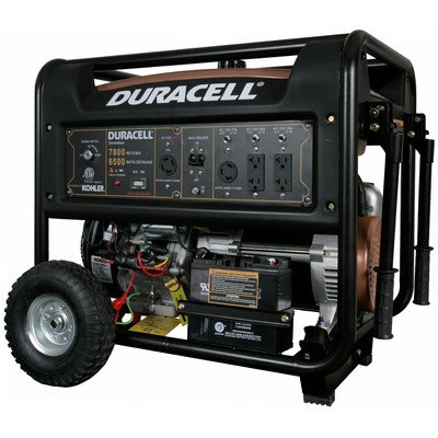 Duracell DG66M-B62 Gasoline Powered Generator with Kohler Electric Start Engine Recoil Start Backup, 7800W
