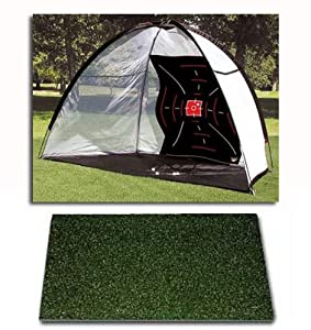 Target Net and 4x4 Multi-Club Champion Woodtee Golf Mat Almost Golf Balls Tees Golf Ball Tray Impact Decals Training DVD from Dura-Pro